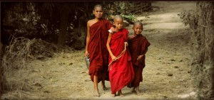 Therr Young Monks by Payl Anderson