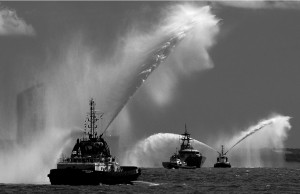 Water cannon by Margaret Sixsmith