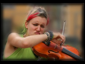 Violinist with Attitude