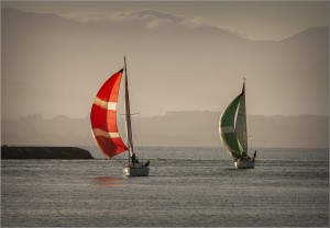 Sails At Sunset